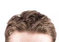 Corte de pelo aislado en blanco Imágenes de archivo libres de regalías