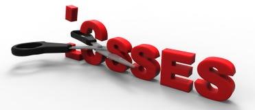 Corte de perdas Imagens de Stock