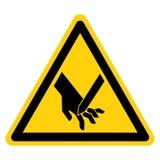 Corte de sinal angular do símbolo da lâmina dos dedos, ilustração do vetor, isolado na etiqueta branca do fundo EPS10 ilustração do vetor