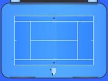 Corte de tênis ilustração do vetor
