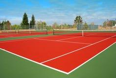 Corte de tênis Foto de Stock Royalty Free