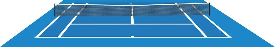 Corte de tênis azul ilustração royalty free