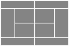Corte de tênis cinzenta Foto de Stock Royalty Free