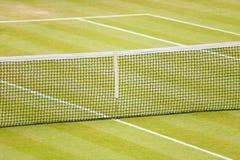 Corte de tênis da grama Fotografia de Stock Royalty Free