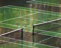 Corte de tênis molhada Foto de Stock Royalty Free