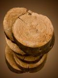 Corte de un árbol un roble Foto de archivo libre de regalías