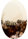 Corte de una piedra con paisaje de cristales imagen de archivo libre de regalías