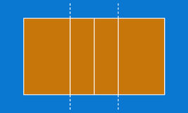 Corte de voleibol libre illustration