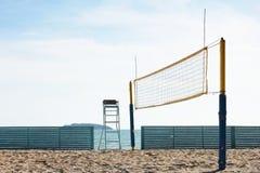 Corte de voleibol da praia Fotos de Stock