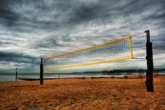 Corte de voleibol HDR da praia Imagens de Stock Royalty Free