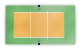 Corte de voleibol ou opinião superior do campo Imagem de Stock