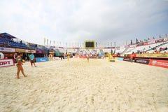 Corte de voleibol para el Grand Slam del torneo Foto de archivo