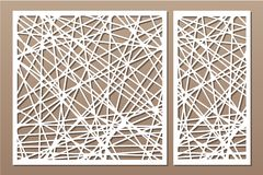 Corte decorativo determinado del laser del panel El panel de madera Modelo abstracto geométrico moderno elegante 1:2 del ratio, 1 libre illustration