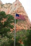 Corte dei patriarchi, Zion National Park, Utah immagini stock