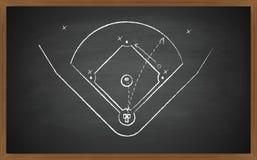 Corte del béisbol a bordo Imagen de archivo libre de regalías