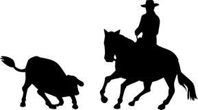 Corte del caballo del vaquero del rodeo