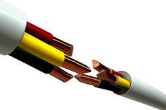 Corte del cable eléctrico Fotos de archivo
