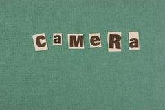 corte del cemera de la palabra del periódico fotografía de archivo