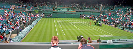 Corte del centro del tenis de Wimbledon Fotos de archivo