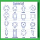 Corte del diamante Imagen de archivo