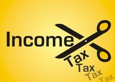 Corte del impuesto sobre la renta Imágenes de archivo libres de regalías