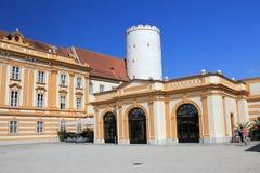 Corte del interior de la abadía de Melk Fotos de archivo libres de regalías