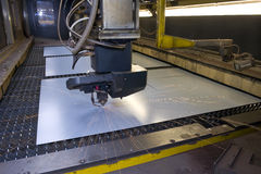 Corte del laser Foto de archivo libre de regalías