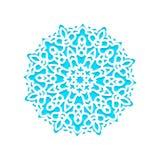 Corte del laser de los copos de nieve de la plantilla y grabado libre illustration