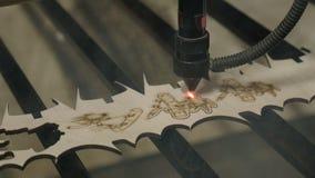 Corte del laser en la madera metrajes