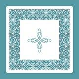 Corte del laser y plantilla de la impresión El panel tallado decorativo Tarjeta para las tarjetas de felicitación, las invitacion Foto de archivo libre de regalías
