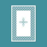 Corte del laser y plantilla de la impresión Tarjeta para las tarjetas de felicitación, las invitaciones, las fotos, y más Foto de archivo