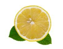 Corte del limón Foto de archivo libre de regalías