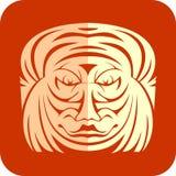 Corte del papel de la cara Fotos de archivo libres de regalías