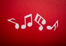 Corte del papel de la nota de la música con el espacio de la copia Imágenes de archivo libres de regalías