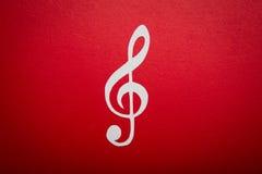 Corte del papel de la nota de la música con el espacio de la copia Fotos de archivo libres de regalías