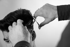 Corte del pelo foto de archivo libre de regalías