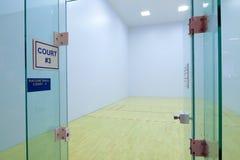 Corte del Racquetball Imágenes de archivo libres de regalías