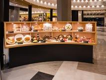 Corte di alimento in Aqua City, un centro commerciale in Odaiba fotografia stock