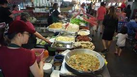 Corte di alimento di Taiwan stock footage