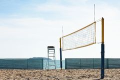 Corte di beach volley Fotografie Stock