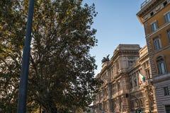 Corte di Cassazione Building a Roma Italia al tramonto fotografia stock libera da diritti