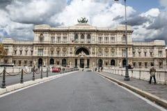 Corte di Cassazione, palazzo di giustizia a Roma fotografia stock