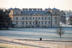 Corte di Croome, Worcestershire, su una mattina gelida soleggiata a gennaio fotografia stock