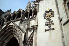 Corte di Giustizia reale Immagini Stock