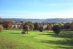 Corte di golf nel bagno in Inghilterra fotografia stock libera da diritti