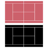 Corte di tennis Immagini Stock