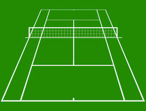 Corte di tennis Fotografia Stock