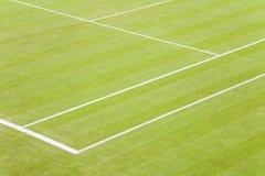 Corte di tennis dell'erba Fotografie Stock Libere da Diritti