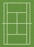 Corte di tennis dell'erba Fotografia Stock