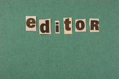 corte do editor da palavra do jornal imagens de stock